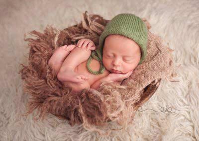 Foto noworodek skrzynka studio